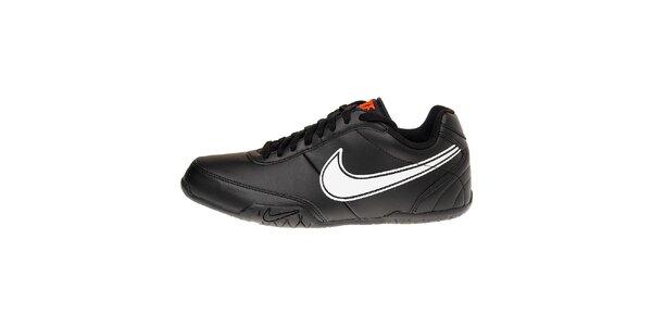 Pánske čierne tenisky Nike T77 Lite s bielym logom