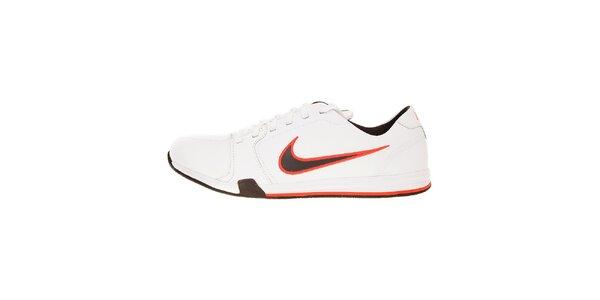 Pánske biele tenisky Nike Circuit s čierno-červenými detailami