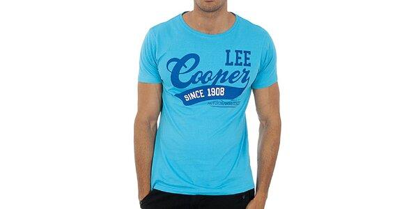 Pánske tyrkysovo modré tričko Lee Cooper