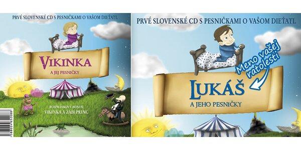 Dve personalizované CD s pesničkami a bonusovou rozprávkou