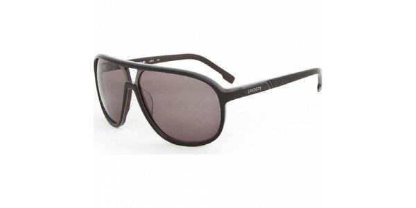 Tmavo hnedé slnečné okuliare Lacoste 15609c65ded