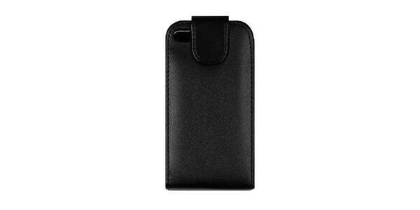 Čierne kožené púzdro na iPhone 4/4S