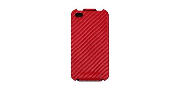 Červené karbonové púzdro na iPhone 4/4S
