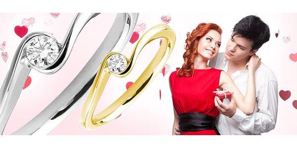 Diamant na Valentína? Zlatý prsteň s 0.06ct diamantom Zacho