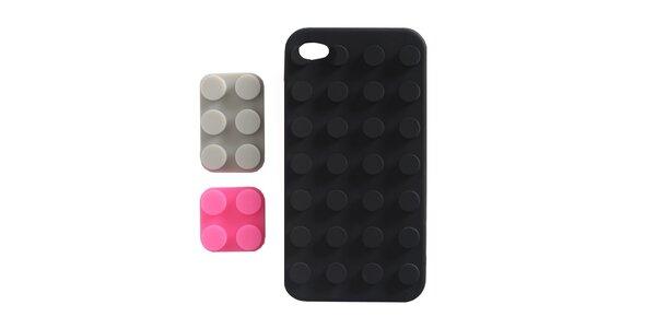 Čierne silikónové púzdro na iPhone 4/4S Lego