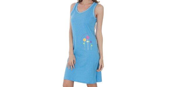 Dámska svetlo modrá nočná košeľa Isma