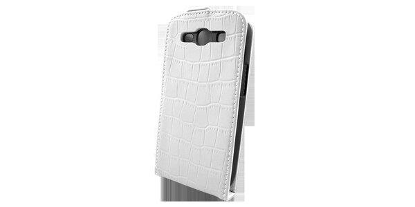 Biele púzdro na Samsung i9300 Galaxy S3 v efekte ktokodýlej kože