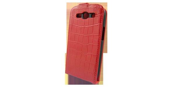 Červené púzdro na Samsung i9300 Galaxy S3 v efekte ktokodýlej kože