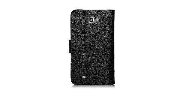 Luxusné čierne púzdro na Samsung Galaxy Note i9220 v efekte ktokodýlej kože