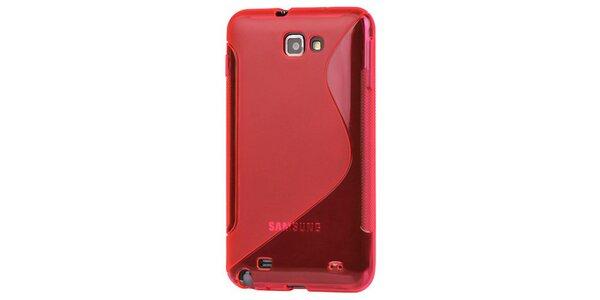 Lesklé červené plastové púzdro na Samsung Galaxy Note i9220