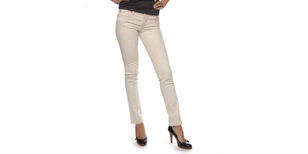Dámske krémové džínsy Ralph Lauren