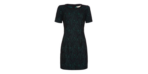 Dámske zelenočierne šaty s krátkym rukávom Yumi