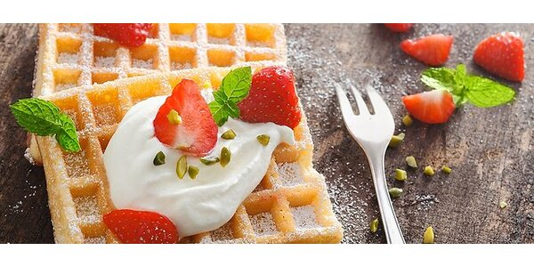 Nefalšované domáce wafle (aj bezlepkové) s bylinkovým čajom alebo kávou pre 2…