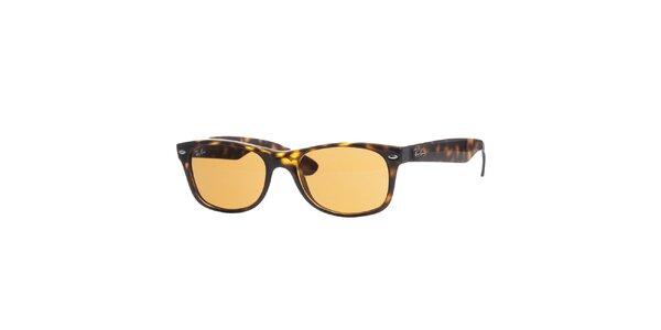 Hnedo-jantarové slnečné okuliare Ray-Ban Wayfarer