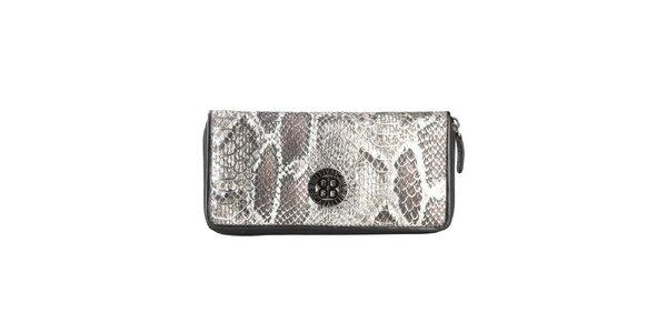 Dámska čierna peňaženka s hadím vzorom Cavalli B.
