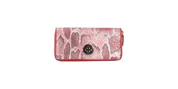 Dámska červená peňaženka s hadím vzorom Cavalli B.