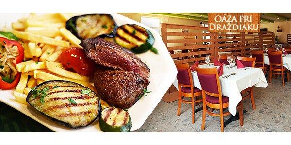 Hovädzí rump steak pri Draždiaku