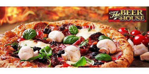 Pizza podľa výberu v The Beer House