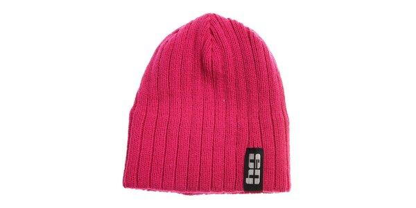 Ružová pletená čapica Envy