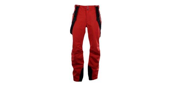 Pánske červené lyžiarske nohavice Blizzard s trakmi