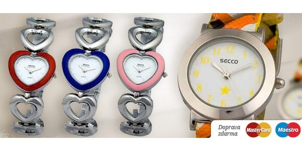 Značkové dámske a dievčenské hodinky SECCO