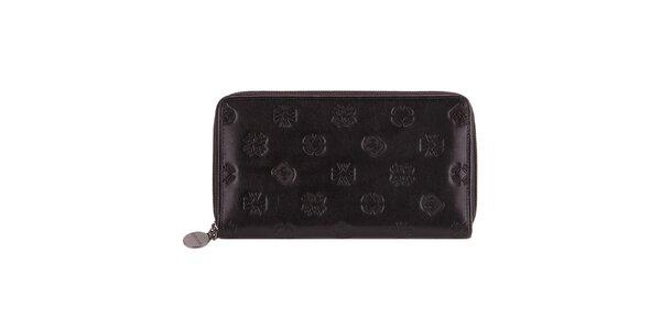 Dámska čierna peňaženka s razenými motívmi Wittchen
