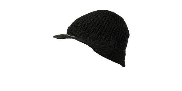 Pánska čierna čiapka so šiltom GAS