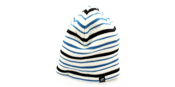 Dámska čiapka s modro-čiernymi pruhmi Hannah
