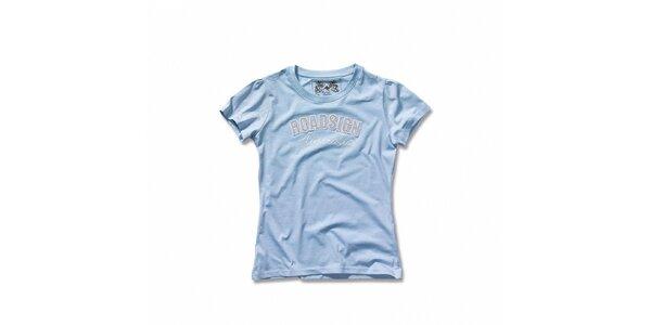 Dámske svetlo modré tričko Roadsign Australia s nášivkou