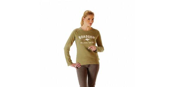 Dámske khaki tričko Roadsign Australia