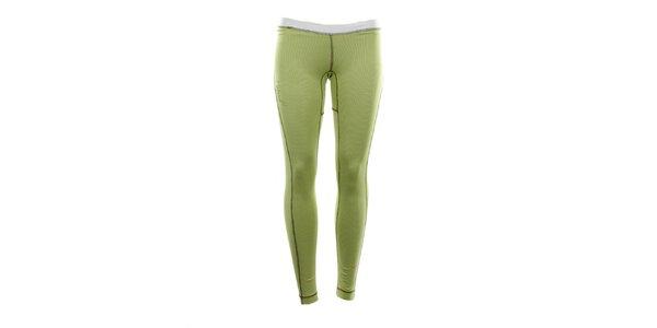 Dámske funkčné nohavice limetkovej farby Hannah