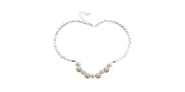 Dámsky náhrdelník s oranžovoružovými perlami Swarowski Royal Adamas