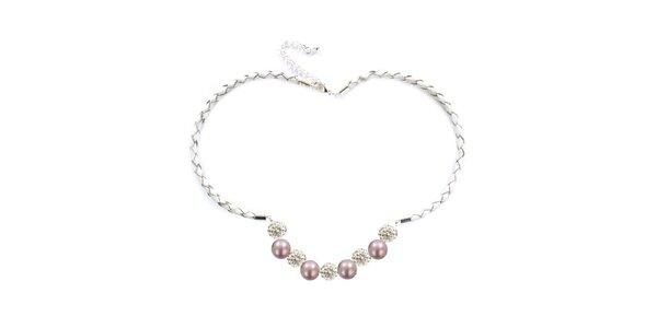 Dámsky náhrdelník s ružovými perlami Swarowski Royal Adamas