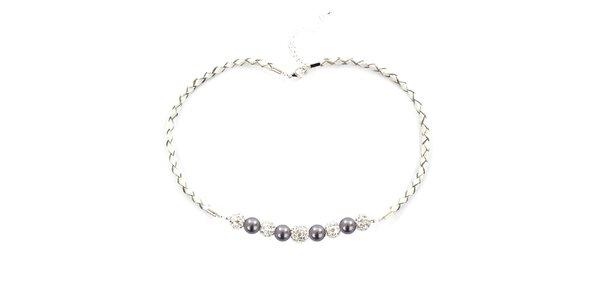 Dámsky náhrdelník s fialovými perlami Swarowski Royal Adamas