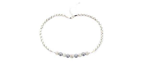 Dámsky náhrdelník s jemne fialovými perlami Swarowski Royal Adamas