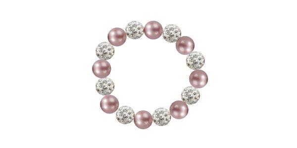 Dámsky náramok s ružovými perlami Swarowski Royal Adamas