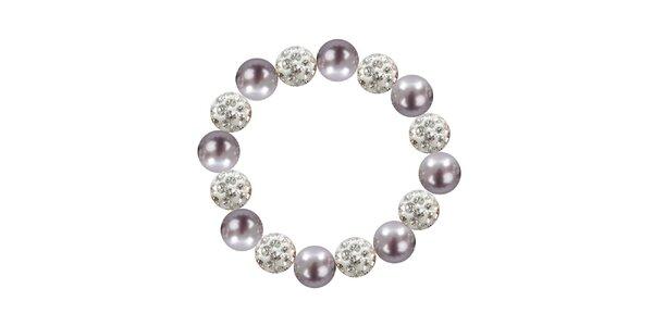 Dámsky náramok s fialovými perlami Swarowski Royal Adamas