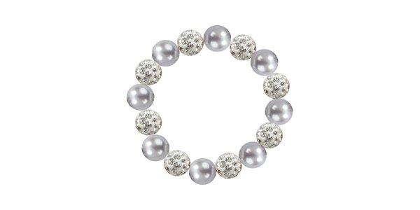 Dámsky náramok s jemne fialovými perlami Swarowski Royal Adamas