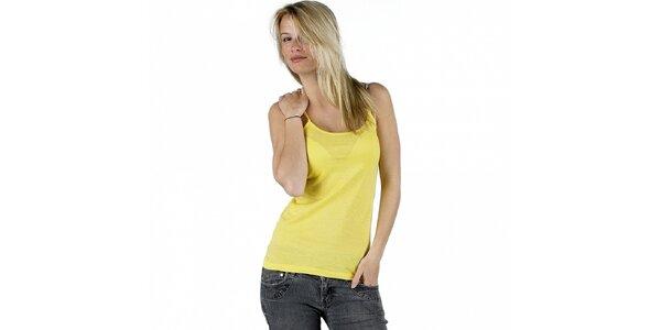 Dámske kanárikovo žlté tielko Pinko