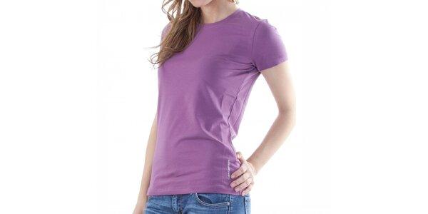 Dámske fialové tričko Calvin Klein