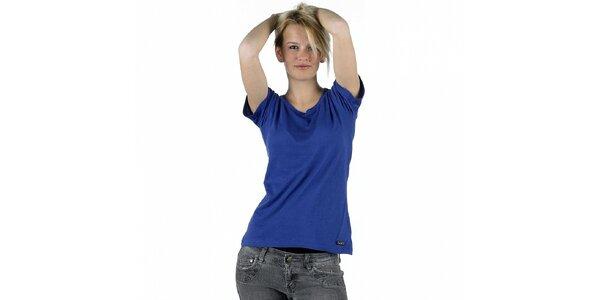 Dámske žiarivo modré tričko Pinko