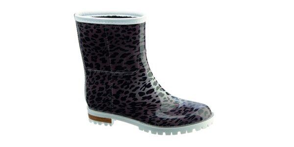 Dámske gumáky s leopardím vzorom Keddo