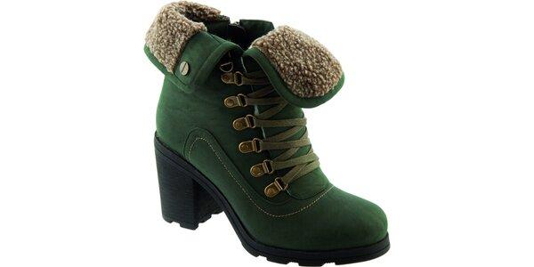 Dámske zelené šnurovacie topánky Betsy