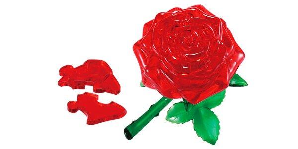 3D crystal puzzle v tvare ruže len za 6,90 € vrátane poštovného – skvelý darček…