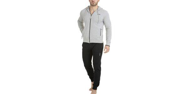 Pánske dvojfarebné pyžamo - mikina a nohavice QBO