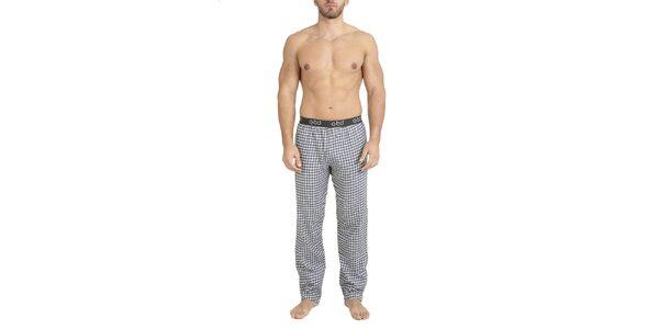 Pánske kockované flanelové nohavice na spanie