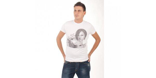 Pánske biele tričko De Puta Madre 69 s potlačou