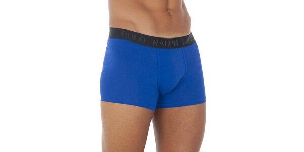 Blankytno modré boxerky Ralph Lauren s čiernym pásom