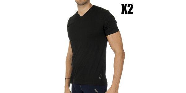 Set dvoch pánskych čiernych tričiek Ralph Lauren
