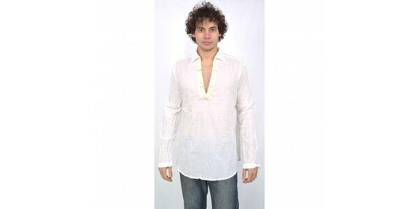 Pánska biela košeľa Energie